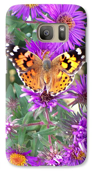 Galaxy Case featuring the photograph Fall Flutterby by Sylvia Thornton