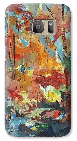 Galaxy Case featuring the painting Fall From My Window by Betty Pieper