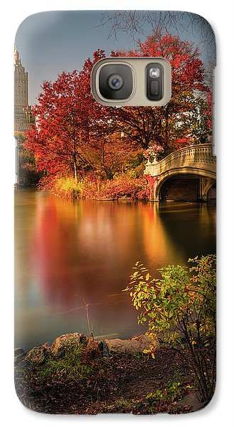 Colours Galaxy S7 Case - Fall In Central Park by Christopher R. Veizaga