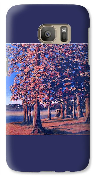 Galaxy Case featuring the painting Fall In East Texas by Suzanne Theis