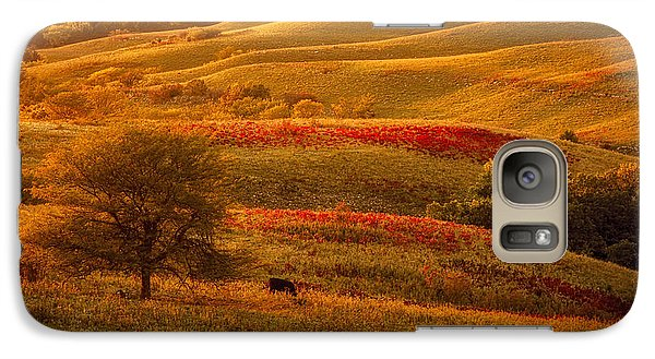 Galaxy Case featuring the photograph Fall In The Flint Hills by Scott Bean