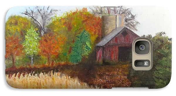 Galaxy Case featuring the painting Fall In Wisconsin by Sharon Schultz