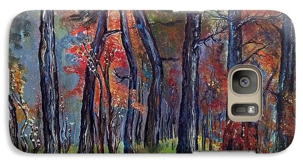 Galaxy Case featuring the painting Fall by Iya Carson