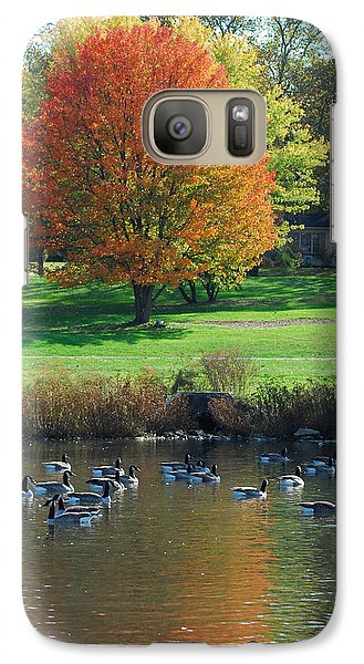 Galaxy Case featuring the photograph Fall by Kathy Gibbons