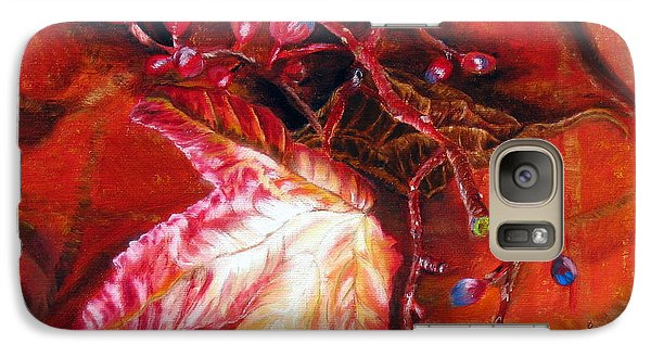 Galaxy Case featuring the painting Fall Leaf And Berries by LaVonne Hand