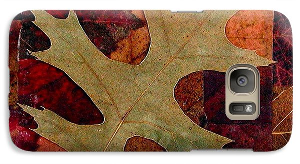 Galaxy Case featuring the mixed media Fall Leaf Collage by Anna Ruzsan