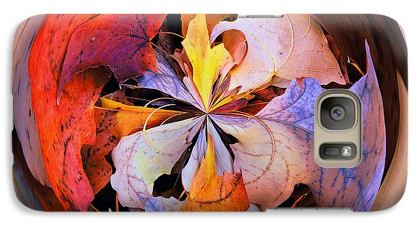 Fall Leaves Orb Galaxy S7 Case by Bill Barber