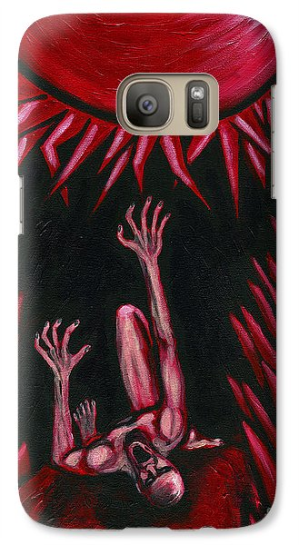 Galaxy Case featuring the painting Fall Of Icarus by Roz Abellera Art
