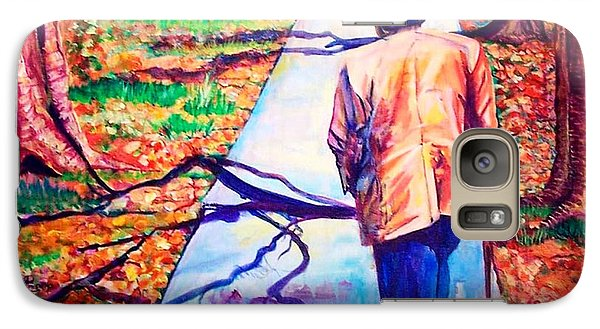 Galaxy Case featuring the painting Fall On Highway 98' by Ecinja Art Works