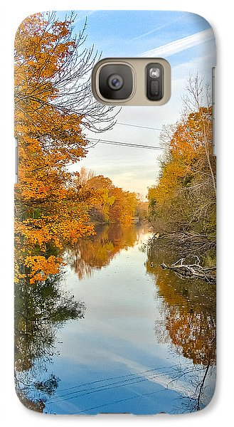 Galaxy Case featuring the photograph Fall On The Red Cedar  by Lars Lentz