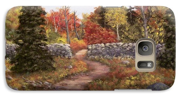 Galaxy Case featuring the painting Fall Path by Megan Walsh