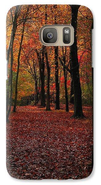 Galaxy Case featuring the photograph Fall Path by Raymond Salani III