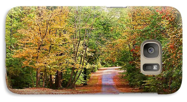 Galaxy Case featuring the photograph Fall Pathway by Judy Vincent