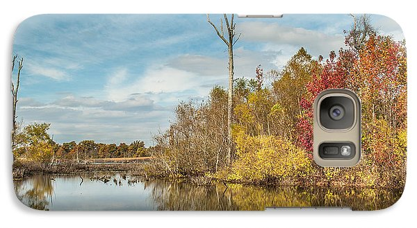 Galaxy Case featuring the photograph Fall Pond by Debbie Green