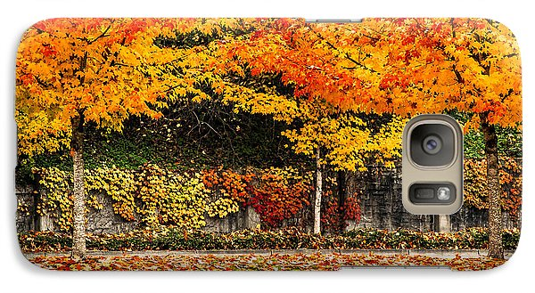 Galaxy Case featuring the photograph Fall Rainbow by Crystal Hoeveler