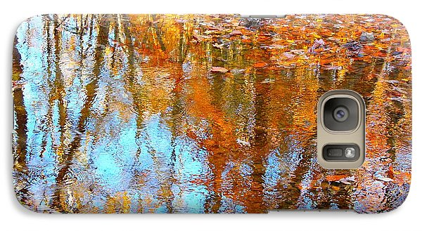 Galaxy Case featuring the photograph Fall Reflection by Candice Trimble