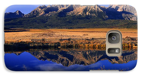 Galaxy Case featuring the photograph Fall Reflections Sawtooth Mountains Idaho by Dave Welling
