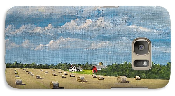 Galaxy Case featuring the painting Fall Rounds by Norm Starks