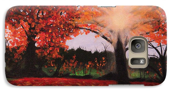 Galaxy Case featuring the painting Fall Shine by Janet Greer Sammons