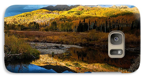 Galaxy Case featuring the photograph Fall Sunset by Steven Reed