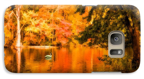 Galaxy Case featuring the photograph Fall Swan by Mary Timman