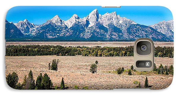 Galaxy Case featuring the photograph Fall Tetons   by Lars Lentz