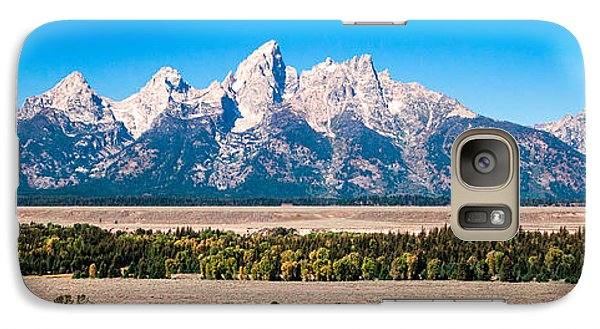 Galaxy Case featuring the photograph Fall Tetons Panorama   by Lars Lentz