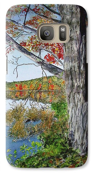 Galaxy Case featuring the painting Fall Tree by Carol Flagg
