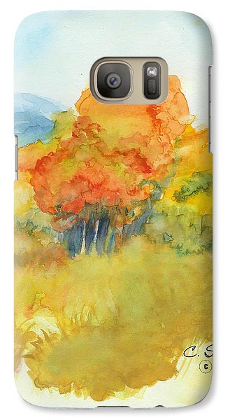 Galaxy Case featuring the painting Fall Trees 2 by C Sitton