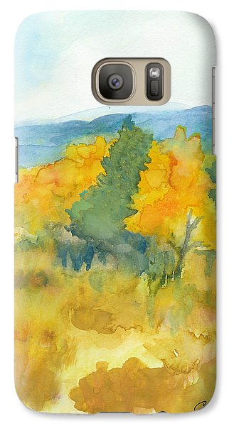Galaxy Case featuring the painting Fall Trees by C Sitton