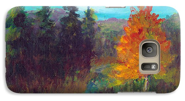 Galaxy Case featuring the painting Fall View by C Sitton
