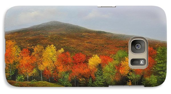 Galaxy Case featuring the painting Fall Vista by Ken Ahlering