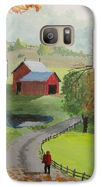 Galaxy Case featuring the painting Fall Walk by Norm Starks