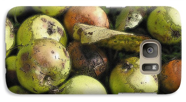 Galaxy Case featuring the digital art Fallen Aplles by Ron Harpham