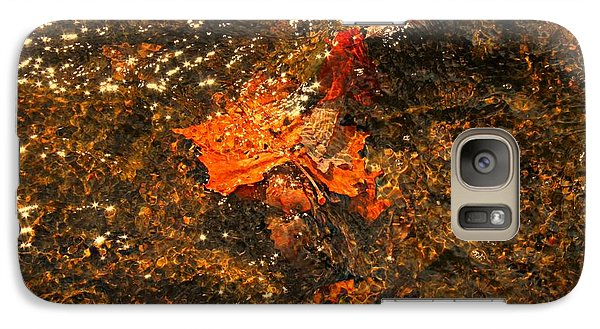 Galaxy Case featuring the photograph Fallen Leaf Creek by Candice Trimble