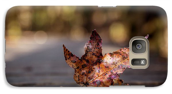 Galaxy Case featuring the photograph Fallen Leaf by Serge Skiba
