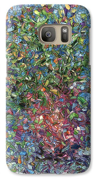 Galaxy Case featuring the painting Falling Flowers by James W Johnson