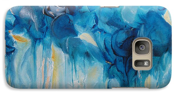 Galaxy Case featuring the painting Falling Into Blue II by Elis Cooke