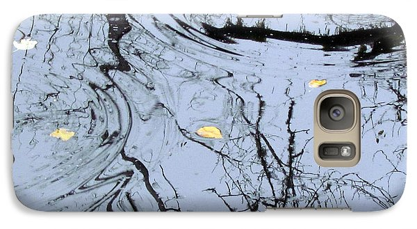 Galaxy Case featuring the photograph Falling Leaves by I'ina Van Lawick