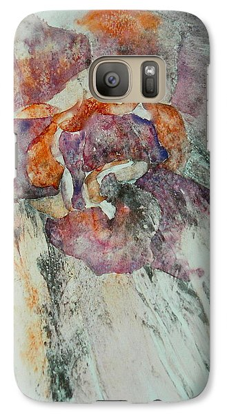 Galaxy Case featuring the painting Falling Rose by Carolyn Rosenberger