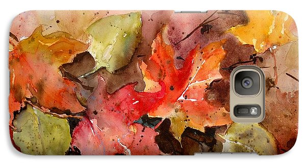 Galaxy Case featuring the painting Falling by Sandra Strohschein