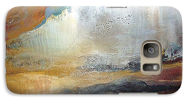 Galaxy Case featuring the painting Falling Sky Ice Mountain by Carolyn Goodridge
