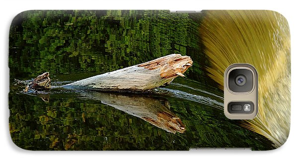 Galaxy Case featuring the photograph Falling Tree Reflections by Debbie Oppermann