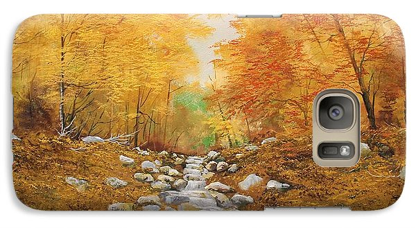 Galaxy Case featuring the painting Falling Water by Ken Ahlering