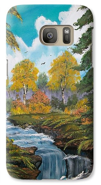 Galaxy Case featuring the painting Rushing Waters  Falls  by Sharon Duguay