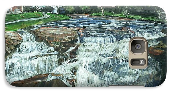 Galaxy Case featuring the painting Falls River Park by Bryan Bustard