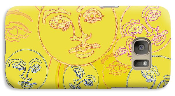 Galaxy Case featuring the digital art Familiar Faces by Christine Perry