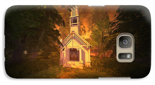 Galaxy Case featuring the digital art Family Chapel by Kylie Sabra