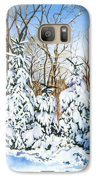 Galaxy Case featuring the painting Family Of Four Trailside At 7 Springs by Barbara Jewell