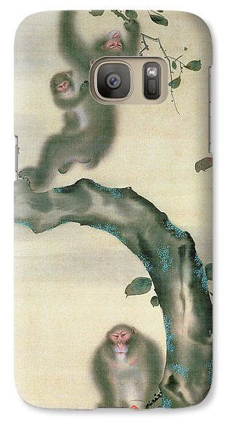 Family Of Monkeys In A Tree Galaxy S7 Case